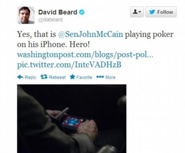 Mekejn uhvaćen kako igra poker na ajfonu tokom rasprave o Siriji u Senatu