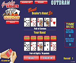Outdraw poker flash igrica