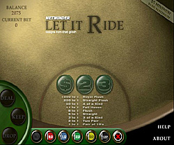 Let it ride- Kazino poker